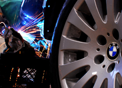 Photo of welder working on a BMW